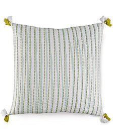 "bluebellgray Lara Texture Stripe 18"" Square Decorative Pillow"