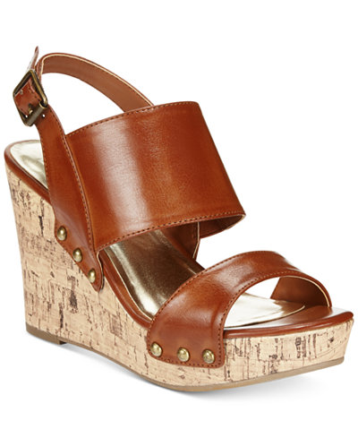 Material Girl Mona Platform Wedge Sandals, Only at Macy's - Sandals - Shoes - Macy's