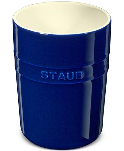Staub Dark Blue Ceramic Utensil Holder