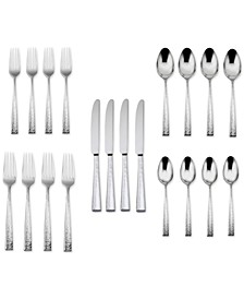 18/10 Stainless Steel Cabria 20-Pc. Flatware Set, Service for 4