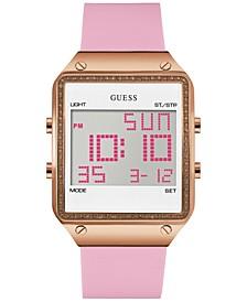 Women's Pink Silicone Strap Watch 55x38mm U0700L2