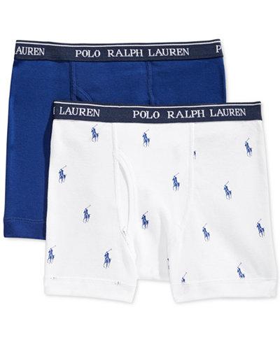 Polo Ralph Lauren Boys' or Little Boys' 2-Pack Boxer Briefs ...