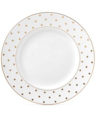 Larabee Road Gold Bone China Dinner Plate