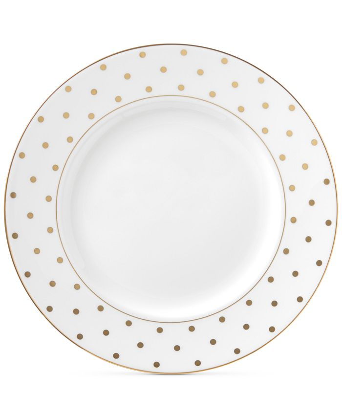 kate spade new york - Larabee Road Gold Collection Bone China Dinner Plate