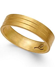 Three-Row Wedding Band in 18k Gold