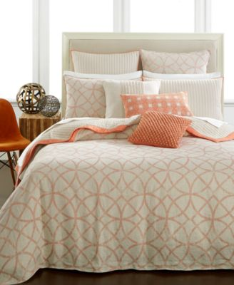 hotel collection textured lattice linen duvet covers created for macyu0027s