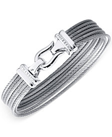 CHARRIOL Women's Silver-Tone Cable Bangle Bracelet
