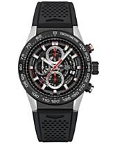 3bb0e643d32 TAG Heuer Men s Swiss Automatic Chronograph Carrera Calibre Heuer 01 Black  Rubber Strap Watch 45mm