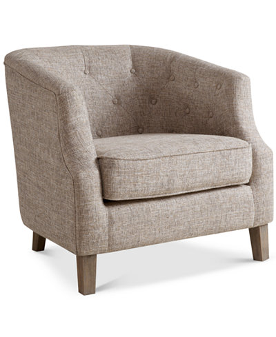 Penelope Fabric Accent Chair Quick Ship