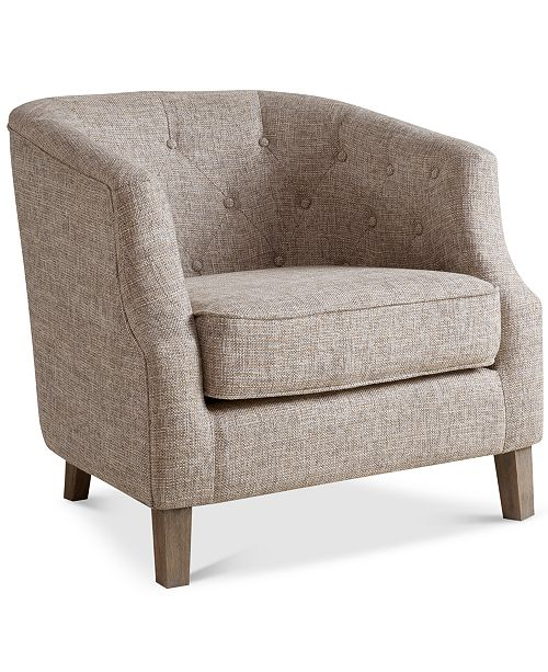 Madison Park Penelope Fabric Accent Chair, Quick Ship