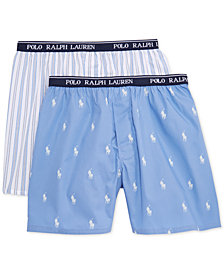 Polo Ralph Lauren 2-Pk. Printed Boxers, Little Boys & Big Boys