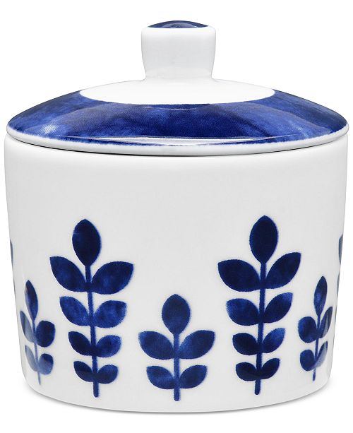 Noritake Sandefjord  Porcelain 2-Pc. Lidded Sugar Dish