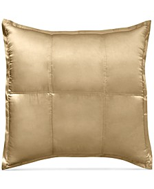 CLOSEOUT! Home Reflection Gold Dust Quilted Silk European Sham