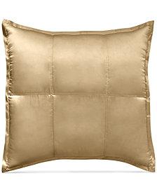 Donna Karan Home Reflection Gold Dust Quilted Silk European Sham