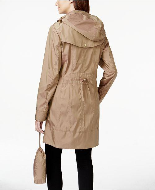 Cole Haan Packable Hooded Raincoat   Reviews - Coats - Women - Macy s c244e29e2