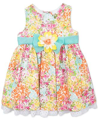 Rare Editions Baby Girls Yellow Flower Dress Dresses
