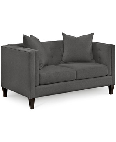 Braylei Track Arm Loveseat With Toss Pillows Created For Macys - Love seat and sofa
