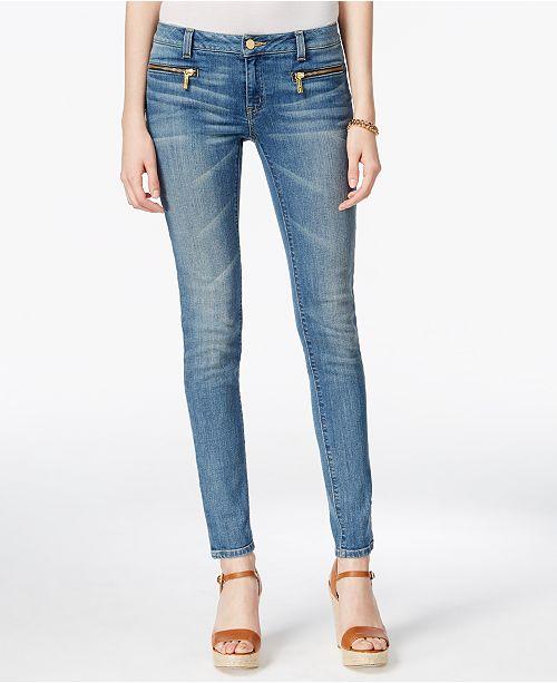 f5389974dc30f Michael Kors Zip-Pocket Skinny Jeans & Reviews - Jeans - Women ...