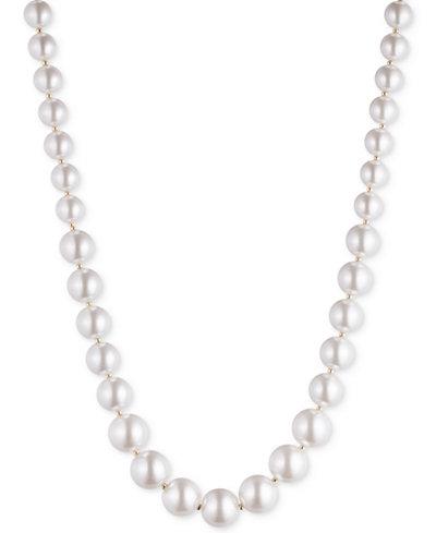 Anne Klein Gold-Tone Imitation Pearl Strand Necklace