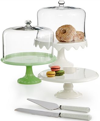 Martha Stewart Collection Domed Cake Stand Collection, Only at Macy's
