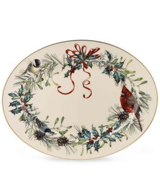 "Dinnerware, 16"" Winter Greetings Platter"