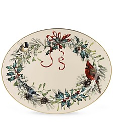 "Lenox Dinnerware, 16"" Winter Greetings Platter"