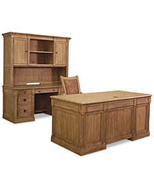 CLOSEOUT! Sherborne Home Office Furniture, 4-Pc. Set (Executive Desk, Credenza Desk, Hutch & Chair)