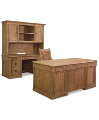 Beau Sherborne Home Office Furniture, 4 Pc. Set (Executive Desk ...