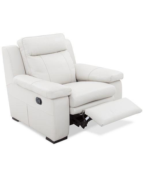 Macy S Macy S Zane White Leather Sofa Sofas: Furniture CLOSEOUT! Zane Leather Manual Recliner