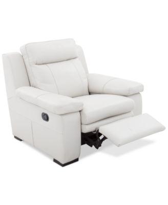 Zane Leather Manual Recliner. Furniture  sc 1 st  Macyu0027s & Zane Leather Manual Recliner - Furniture - Macyu0027s islam-shia.org