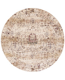 "Macy's Fine Rug Gallery Andreas   AF-01 Ivory/Multi 5'3"" Round Rug"