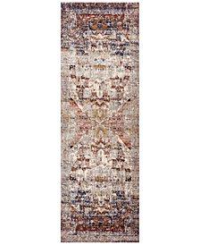 """Macy's Fine Rug Gallery Andreas   AF-08 Slate/Multi 2'7"""" x 12' Runner Rug"""