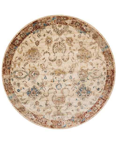 "Macy's Fine Rug Gallery Andreas   AF-04 Antique Ivory/Rust 7'10"" Round Rug"