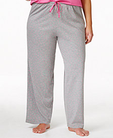 HUE® Plus Size Polka Dot Knit Pajama Pants