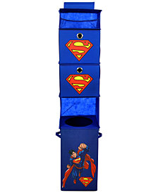Modern Littles Superman Closet Hanging Organizer with 2 Storage Bins