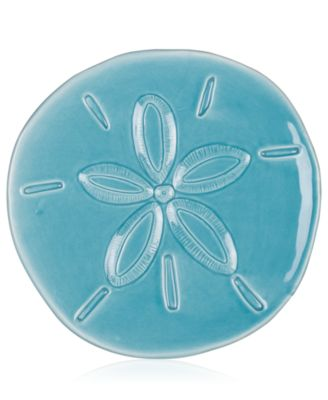 Cape Coral Collection Teal Sand Dollar Snack Plate