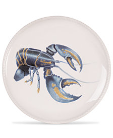 Fitz and Floyd Cape Coral Collection Lobster Accent Plate