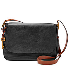 Fossil Harper Medium Leather Saddle Crossbody
