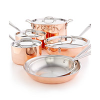 Martha Stewart Collection Tri-Ply Copper 10-Pc. Cookware Set