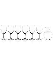 Ouverture Magnum Glasses & Apple Decanter 7 Piece Value Set