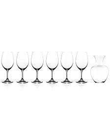 Riedel Ouverture Magnum Glasses & Apple Decanter 7 Piece Value Set