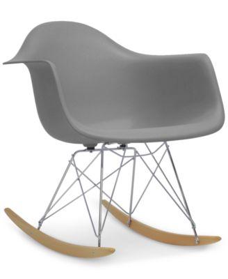 Bon ... Furniture Caden Mid Century Modern Rocking Chair, Quick Ship ...