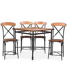 Shilo Wood & Metal 5-Pc. Pub Set, Quick Ship