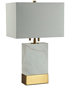 Rockport Rectangle Marble Table Lamp
