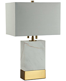 Decorator's Lighting Rockport Rectangle Marble Table Lamp
