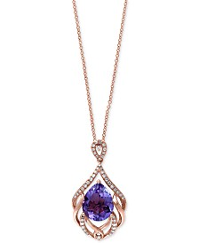 Amethyst effy jewelry macys viola by effy amethyst 3 38 ct tw and diamond mozeypictures Gallery