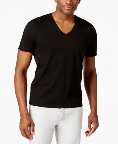 INC International Concepts Men's V-Neck Polished T-Shirt, Created ...