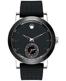 Movado Men's Swiss Museum Sport Motion Black Rubber Strap Smart watch 44mm 0660003