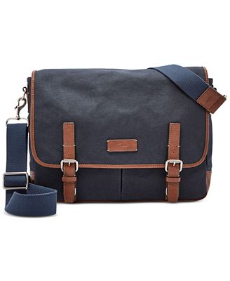 Fossil Graham Canvas Messenger Bag - Accessories & Wallets - Men ...