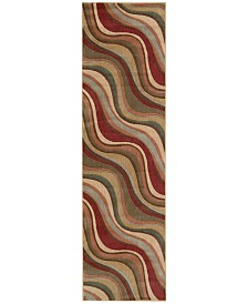 "CLOSEOUT! Nourison Somerset Wave 2'3"" x 8' Runner Rug"